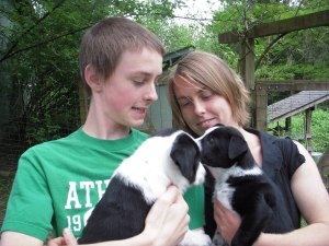 Me, my brother, our dogs